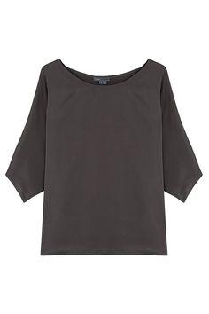 Silk Envelope Sleeve Top