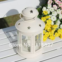 White color wedding gift Metal Weddings lantern Iron Candle Holder house or shop decoration artcraft(China (Mainland))