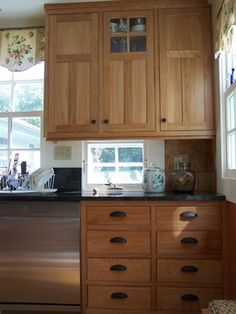 1000 images about windows and doors on pinterest for Window under kitchen cabinets