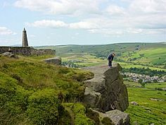 Walks in the Leeds and Harrogate Area - Cowling, Earl Crag, Wainman's Pinnacle and Lund's Tower Places In England, Lund, Homeland, Walks, Golf Courses, Hiking, Tower, Travel, Rook