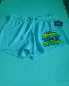 Daytona Beach,Florida Short Shorts Size Medium Wings Brand #3  WHITE #MiniShortShorts