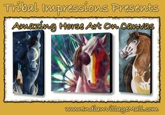 Great Canvas Hose Wall Art Collection -Horses Of A Different Color! Review the collection off of: http://www.indianvillagemall.com/statue/ppwallart.html