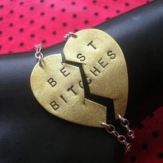 Best Bitches Bracelets - made to order by MetalTaboo, $84.00