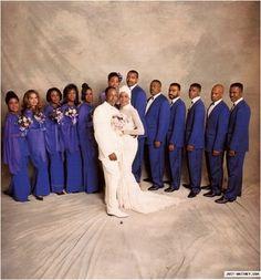 Bobby Brown & Whitney Houston wedding