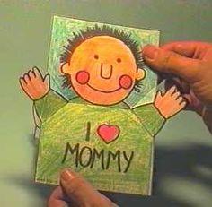 Libros Pop-Up Books Cards: Cómo hacer una Tarjeta pop-up de Abrazo para el Día de las Madres