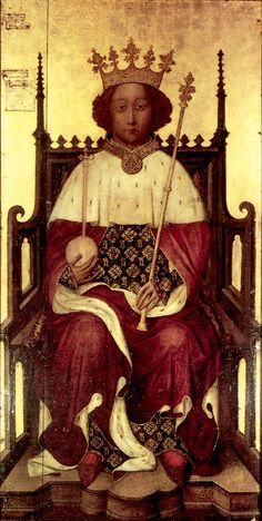 KING RICHARD II - SON OF EDWARD, THE BLACK PRINCE, GRANDSON OF EDWARD III.