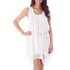 White gauzy dress
