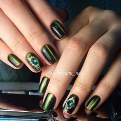 Amazing nails, Beautiful nails, Beautiful nails 2016, Cat eye nails, Evening…