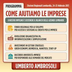 Infografica su Imprese - programma di Umberto Ambrosoli candidato presidente alla Regione Lombardia nel 2013