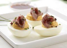 Steak  Eggs Deviled Eggs!  (from D'Lish Deviled Eggs)