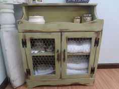 relurposed dry sinks | Bathroom Storage Cabinet by ThePinkToolBox on Etsy