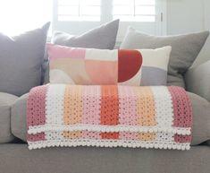 Crochet Modern Boho Granny Blanket - Daisy Farm Crafts free pattern