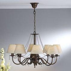 Lustrarte Lighting Classic Missangas 8 Light Shaded Chandelier Finish: Earth