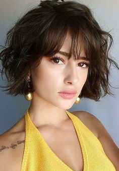 20 Short Trendy Haircuts Cute Short Haircuts to Look Stunning Related posts:Alicia Keys Hairstyle Kinky Curly Lace Wigs Indian Virgin Hair Of The Coolest Brunette Balayage Mid Length Wavy Bob Hairstyles for 2019 Short Haircuts With Bangs, Short Hairstyles For Women, Haircut Short, Hairstyles 2018, Thin Hairstyles, Short Hair Cuts For Women With Bangs, 2018 Haircuts, Haircut Bob, Fashion Hairstyles