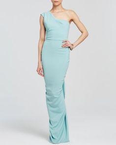 Nicole Bakti Gown - One Shoulder Ruffle Back | Bloomingdale's#fn%3Dspp%3D5#fn%3Dspp%3D5