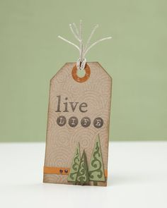 A link to instructions to make your own tag with the Cricut® Art Philosophy cartridge! #CTMH