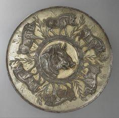 Large Shallow Silver Dish. Iran, Sasanian period (circa A.D. 225-650). | LACMA