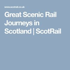 9 Best Scotrail images in 2019 | Scotland, Travel, Scotland