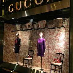 """GUCCI,Paris,France, """"Linda and Sylvia will show you how to create intimate space in an open floor plan"""", pinned by Ton van der Veer"""