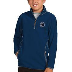 New York City FC Antigua Youth Ice 1/4-Zip Pullover Jacket - Navy