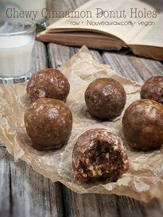 Chewy Cinnamon Donut Holes (raw, vegan, gluten-free)