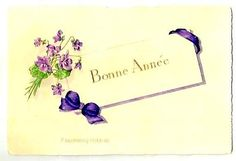 Vintage HANDPAINTED FLOWERS  French POSTCARD by FascinatingHobbies