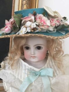 Beautiful RARE Antique French or German Pale Bisque Belton Doll