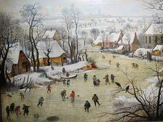 Pieter_bruegel_il_giovane_(da_bruegel_il_vecchio),_paesaggio_invernale_con_trappola_per_uccelli,_03.JPG (2816×2112)