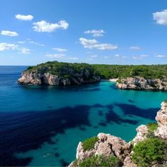 The sparkling blue waters of Menorca. www.holidaynights.co.uk