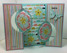 Double Flip Card Mixed Bunch, Flower Shop, Petite Petals, Papillion Potpourri by Dianne Slevin