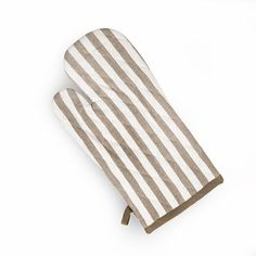 Backhandschuh Streifen, B:17cm x L:33cm, taupe B 17, Oven, Potholders, Ceilings, Stripes, Shopping, Cotton, Kitchen Stove, Ovens