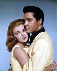 """Photo shoot for """"Viva Las Vegas"""" (MGM), also (heavily) featuring Ann-Margret. September 10 and 11, 1963 Photographer; Virgil Apger  The co-stars; Ann-Margret"""