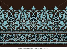 Tabriz Flower Seamless Border by Azat1976, via Shutterstock