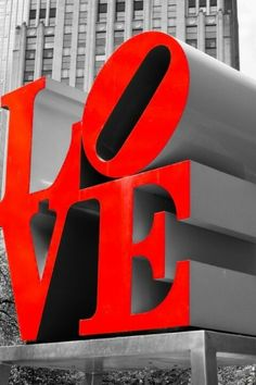 """Art installation in """"The City of Brotherly Love"""", Philadelphia, PA"""