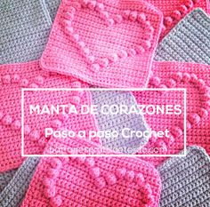 aprende a hacer una manta de corazones al crochet