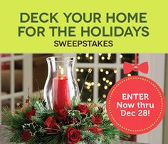 I just entered to win the From You Flowers' Deck Your Home for the Holidays Sweepstakes, with a grand prize valued at over $1,000 - including a $500 Visa gift card and more! Join me! #fyfsweeps