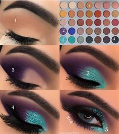 15 Easy & Gorgeous Makeup Looks For Beginners - Samantha Fashion Life - 15 Egg . - 15 Easy & Gorgeous Makeup Looks For Beginners – Samantha Fashion Life – 15 Simple And Gorgeous - Makeup Eye Looks, Eye Makeup Steps, Blue Eye Makeup, Cute Makeup, Eyeshadow Looks, Gorgeous Makeup, Beauty Makeup, Makeup Eyeshadow, Makeup Light