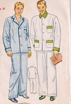 1930s sleepwear mens - Google Search