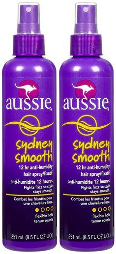 Aussie Sydney Smooth 12 Hour Anti-Humidity Hair Spray - Hard to find!! Works the best!