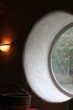 Round strawbale window
