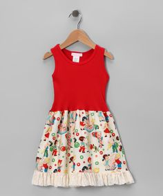 Red Retro Candy Shop Dress  by Mikko Kids & Alejandra Kearl Designs. I love the vintage look and colors.