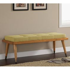 Retro Button-tufted Aqua Tweed Bench - Overstock Shopping - Great Deals on Benches Retro Armchair, Side Chairs, Furniture, Bench, Tufting Buttons, Furnishings, Upholstery, Century Decor, Living Room Furniture