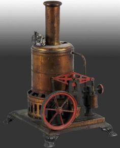 Steam-Toys-Vertical-Steam-Engines Upright boiler walking beam engine
