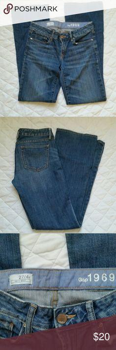 "GAP 1969 Jeans Size 4 Excellent condition, bootcut, 32"" inseam GAP Jeans Boot Cut"