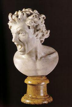 Gian Lorenzo Bernini - Damned Soul - White marble - 1619 ~ETS (John Pototschnik: The Amazing Italians)