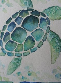This original watercolor painting highlights the shell and markings of this sea . This original watercolor painting highlights the shell and markings of this sea . Sea Turtle Painting, Sea Turtle Art, Sea Turtles, Water Color Turtle, Water Color Painting Easy, Shell Painting, Watercolor Ocean, Watercolor Paper, Tattoo Watercolor