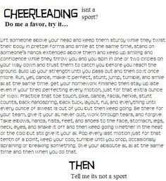 cheerleading is a sport persuasive essay