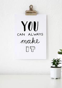 You can always make it! // Handlettering via www.Luloveshandmade.com