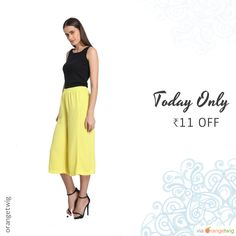 Today Only! ₹11 OFF this item.  Follow us on Pinterest to be the first to see our exciting Daily Deals. Today's Product: Blazing Yellow Solid Pants Buy now: http://orangetwig.myshopify.com/products/blazing-yellow-solid-pants?utm_source=Pinterest&utm_medium=Orangetwig_Marketing&utm_campaign=DD1   #beautiful #instagood #instafollow #photooftheday #picoftheday #love #smallbiz #instalike #shopsmall #shopping #etsy #ootd #OrangeTwig #sale #dailydeal #dealoftheday #todayonly #instadaily #forsale…