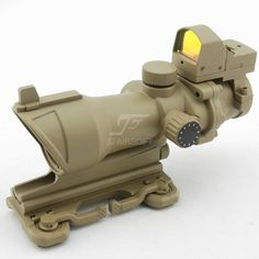 JJ AIRSOFT ACOG 4X32 Scope Full Illumination+Mini Red dot with QD Mount Trijicon ACOG 4X32 Scope+Docter Red Dot Sight Replica #airsoft